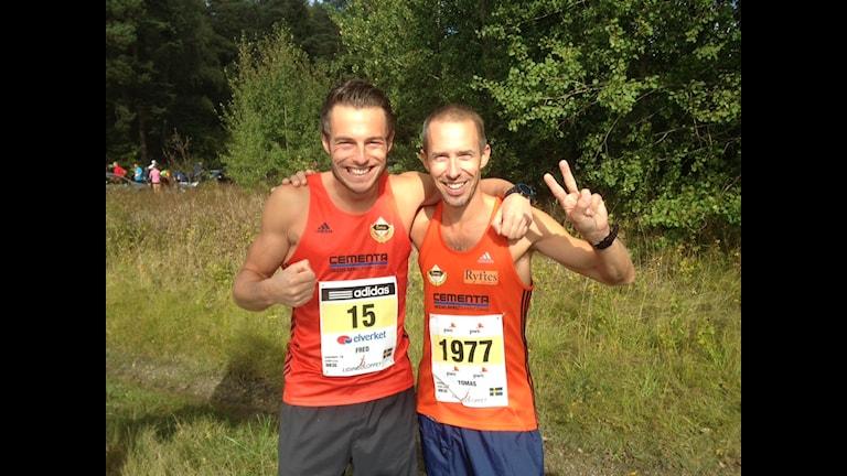 Fred Grönwall och Tomas Ängshammar, Lidingöloppet. Foto:Privat