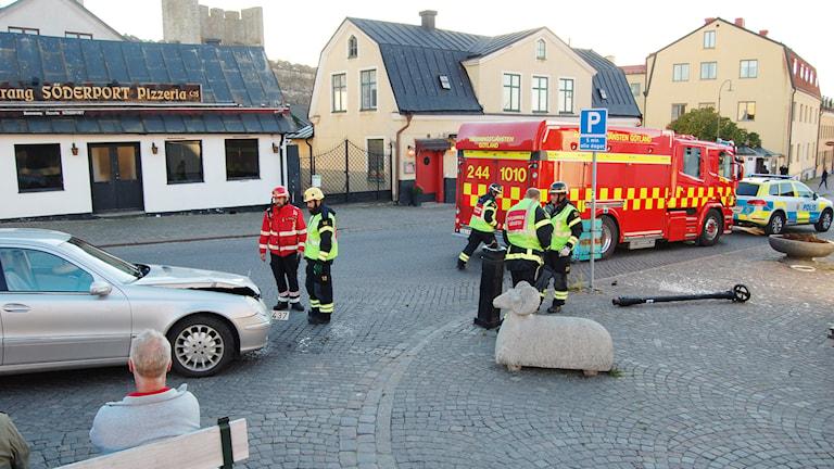 Bilkrock på Södertorg. Foto: Jack Lantz/Sveriges Radio