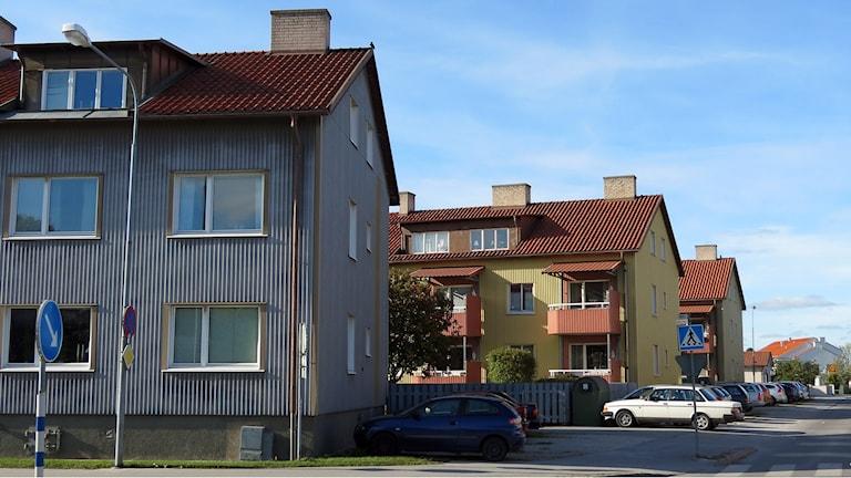 Lägenheter i Visby. Foto: Jonas Neuman/Sveriges Radio