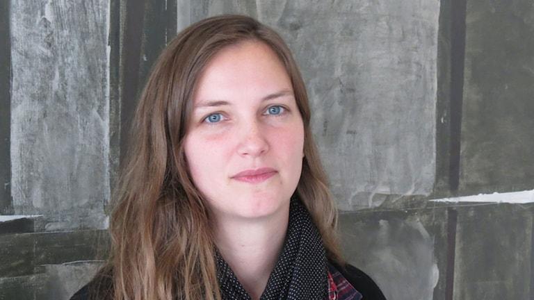 Saga Carlgren (V), ordförande i gymnasie- och vuxenutbildningsnämnden. Foto: Johan Hellström/Sveriges Radio