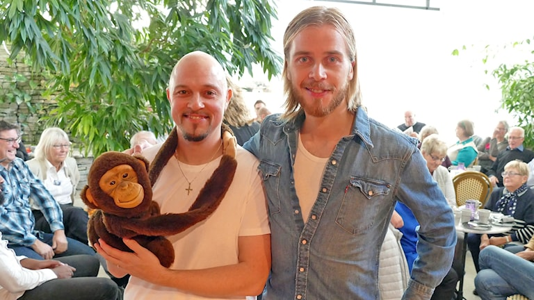 Janne Manni och Mikael Herrala. Foto: Mika Koskelainen/Sveriges Radio