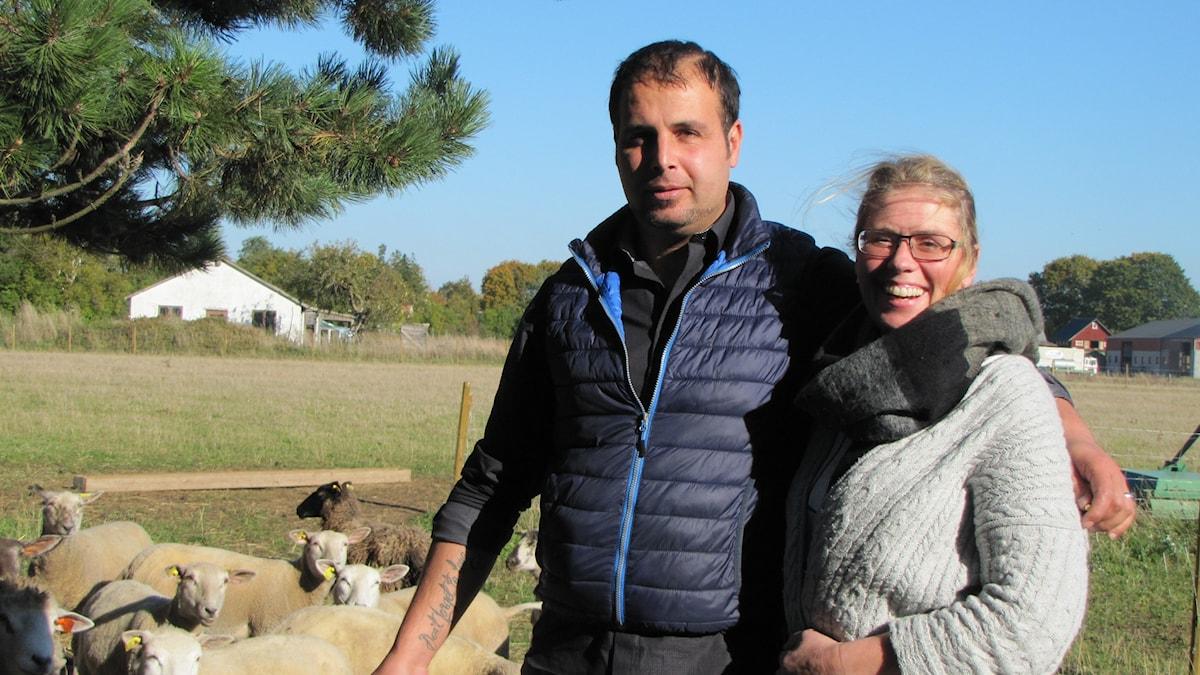 Reber Kalamin Shareef och Anna Haack. Foto: Mari Winarve/Sveriges Radio