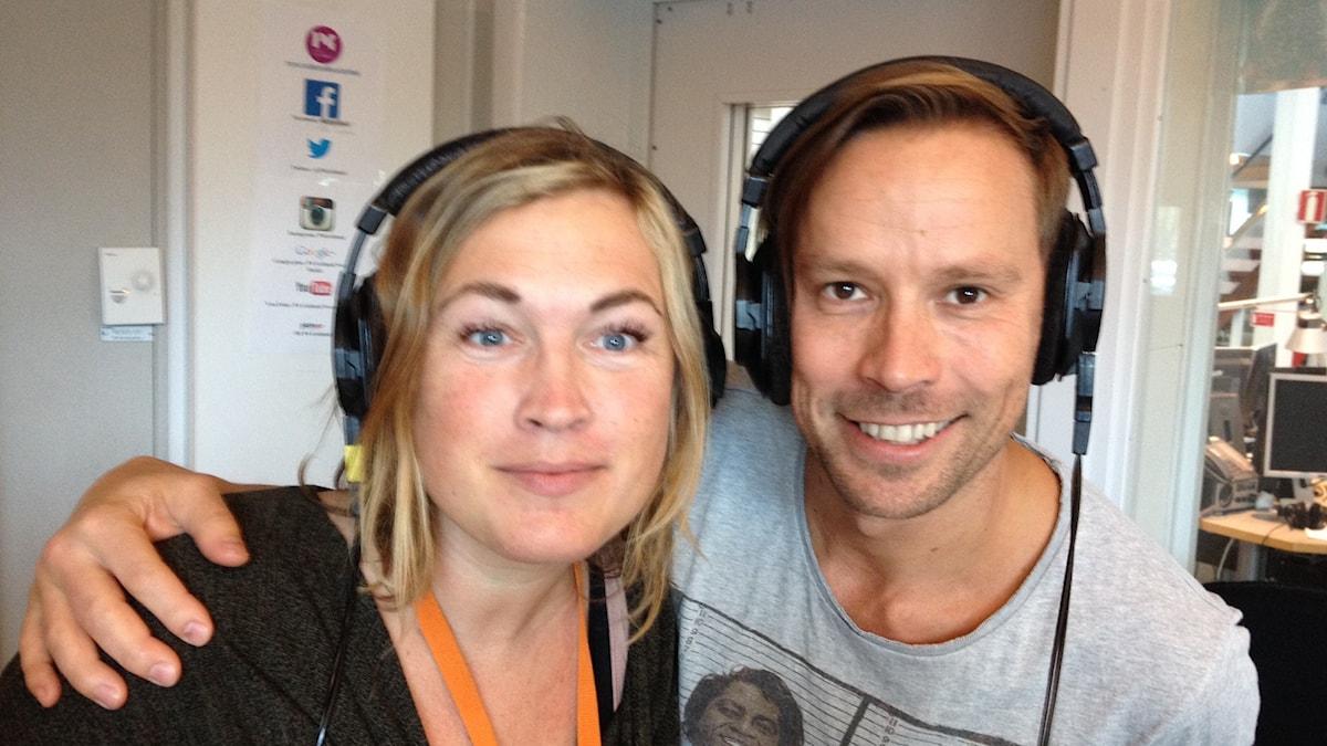 Helena Håkansson och Erik Larsson. Foto: Mika Koskelainen/Sveriges Radio