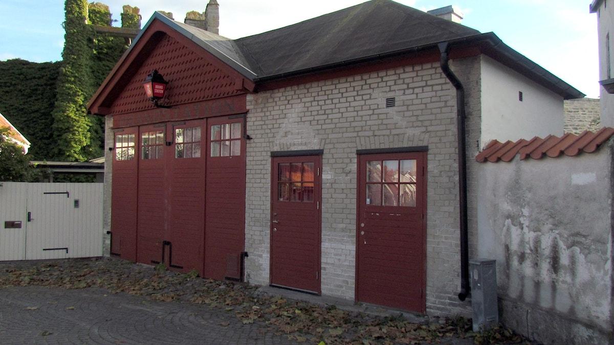 Gamla brandstationen vid Klinttorget i Visby. Foto: Jonas Neuman/Sveriges Radio