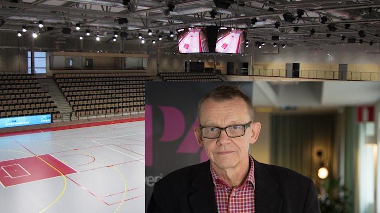 Hans Rosling ska tala i Arenahallen i Visby. Montage/Foto: Sveriges Radio