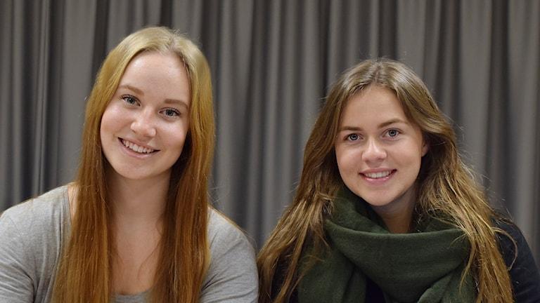 Lovisa Berlin och Emma Forsberg. Foto: Privat