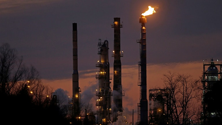Exxon-raffinaderi. Foto: Gerald Herbert/TT