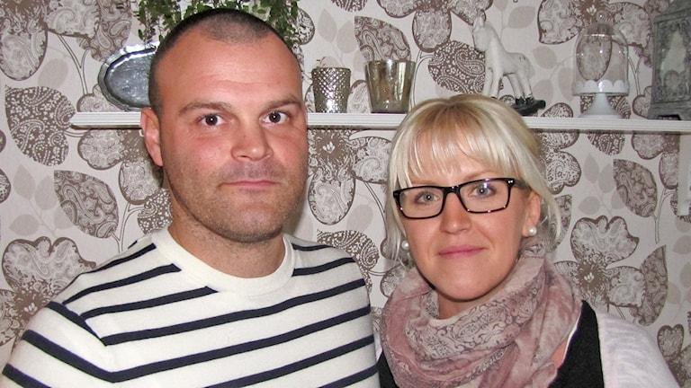 Sebastian och Annika Sirland. Foto: Mari Winarve/Sveriges Radio