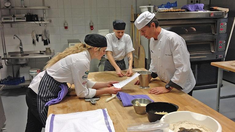 Wisbygymnasiet. Restaurang- och livsmedelsprogrammet. Foto: Mika Koskelainen/Sveriges Radio