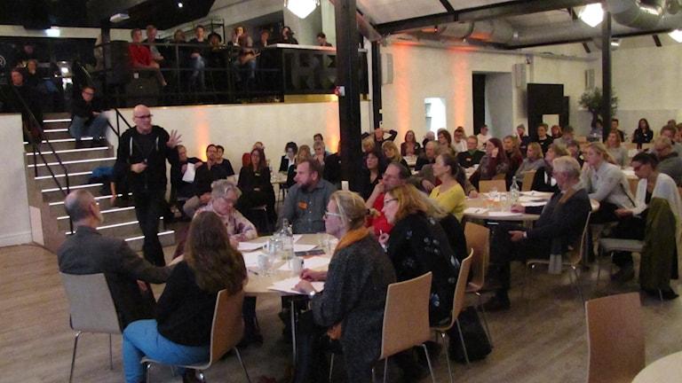 Kulturdebatt i Visby. Foto: Johan Hellström/Sveriges Radio