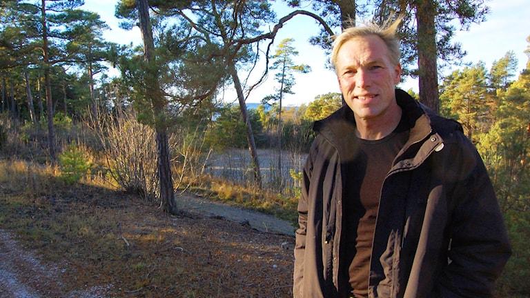 Clas Dahlén driver asylboende i Fröjel. Foto: Jack Lantz/Sveriges Radio