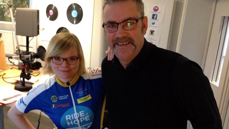 Johanna Pettersson och Anders Buskas. Foto: Amanda Heijbel/Sveriges Radio