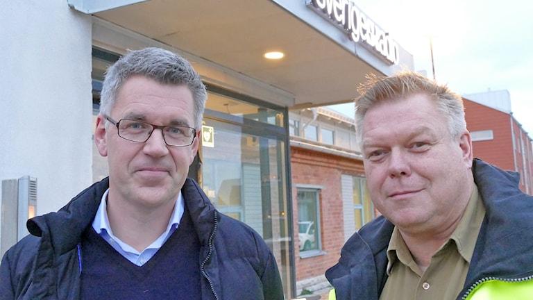 Ralph Axelson och Mats Eriksson. Foto: Mika Koskelainen/Sveriges Radio