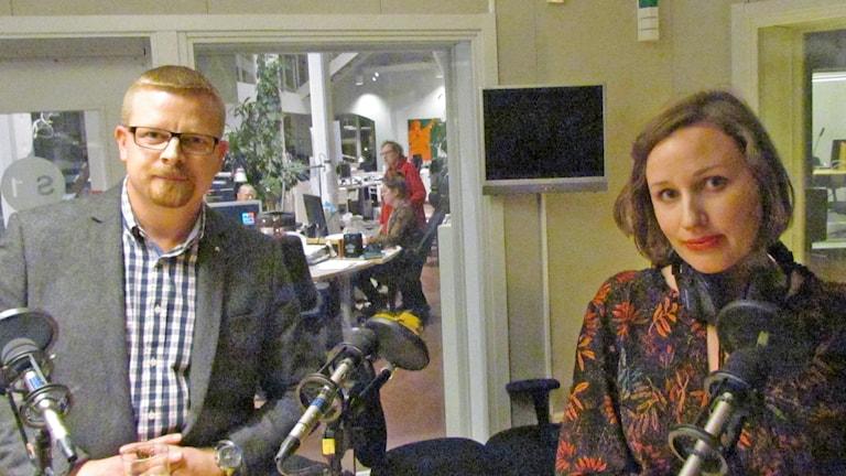Simon Härenstam och Elin Bååth. Foto: Mika Koskelainen/Sveriges Radio