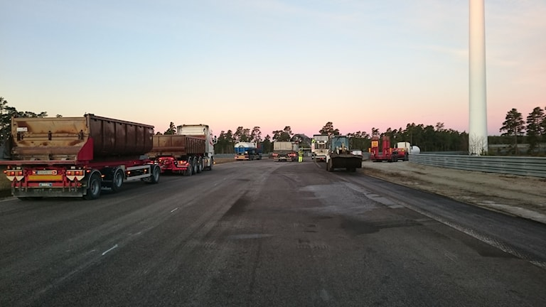 Reparationsarbeten av den skadade banan har påbörjats. Foto:Gotland Ring