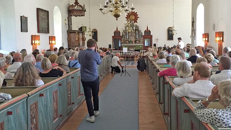 Fårö kyrka invigning Bergmanveckan