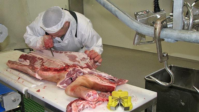 Gotlands slagteri. Foto: Ib Green-Petersen / Sveriges Radio