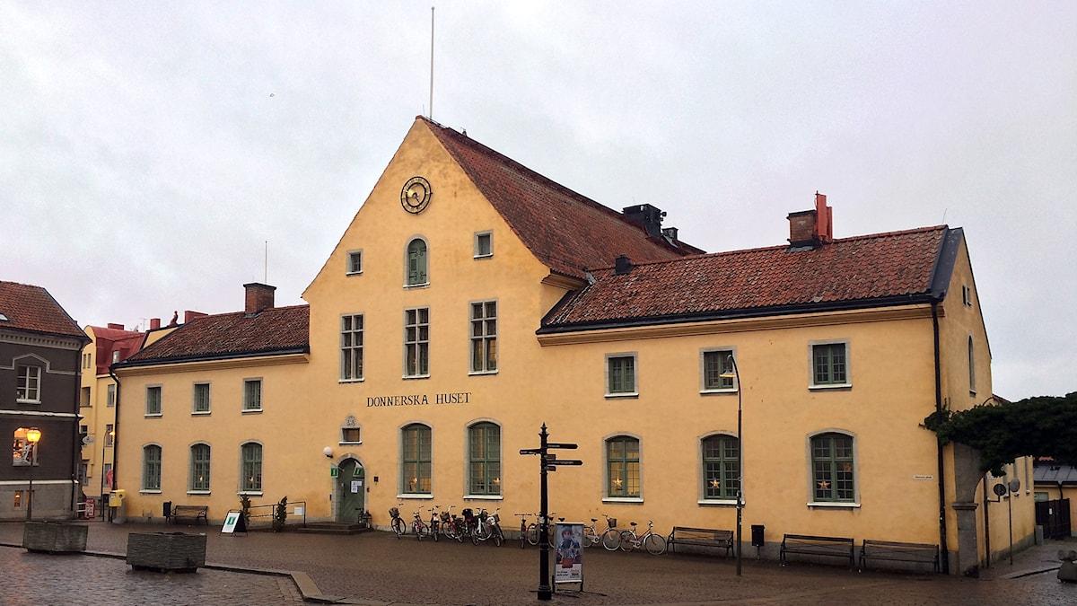 Donnerska huset i Visby som nu bla är turistbyrå.