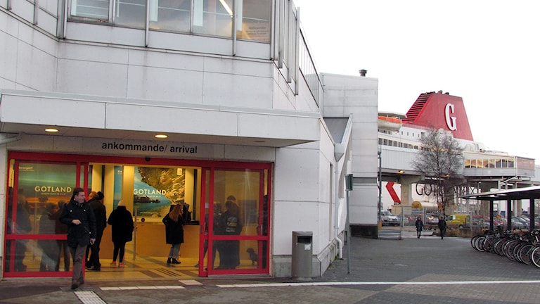 Hamnterminalen i Visby. Foto: Jonas Neuman/Sveriges Radio