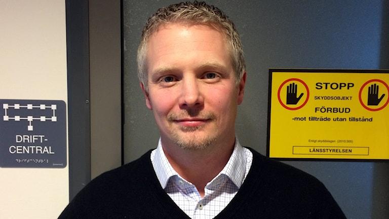Johan Granath på Gotlandsenergi AB, GEAB. Foto: Jonas Neuman/Sveriges Radio