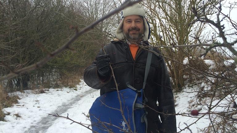 Stefan Wramner ser fram emot att guida asylsökande i naturen.Foto: Ulrika Uusitalo Fernholm/Sveriges Radio
