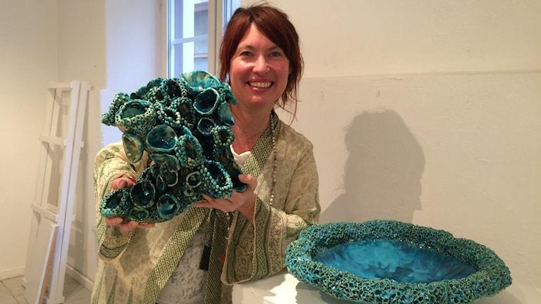 Erika Höglund med korall