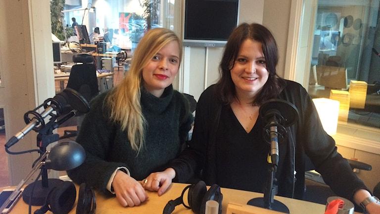 Susanna Carlsten och Johanna Pietikäinen jobbar för Brucebostiftelsen. Foto: SR Gotland