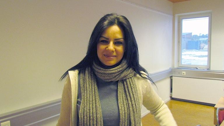 Hala Hisham. Foto: Anna Jutehammar/ Sveriges Radio