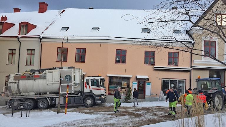Halt i Hästgatsbacken i Visby innerstad. Foto: Anton Kalm/Sveriges Radio