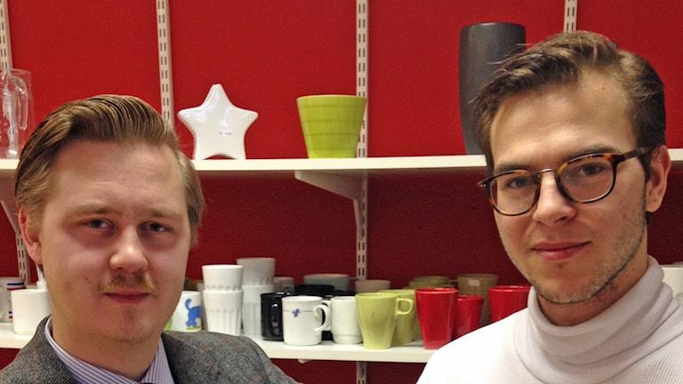 Anton Hammar och Emil Langlet Vessman. Foto: Sveriges Radio