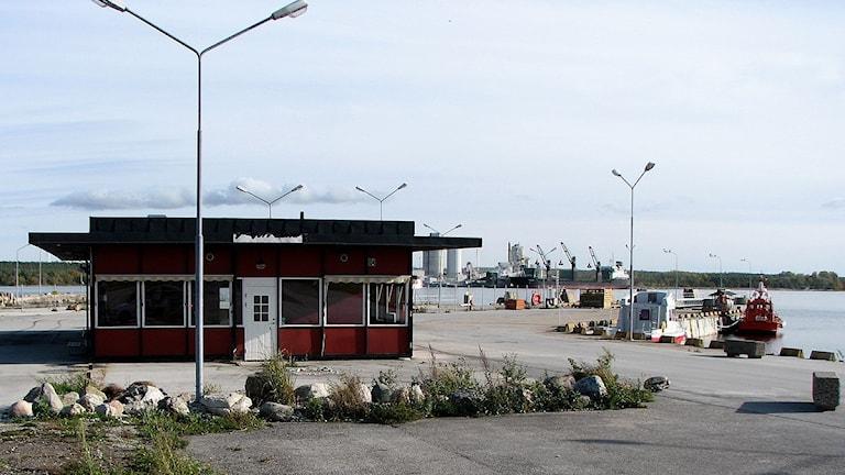 Hamnen i Kappelshamn. Foto: Henrik  Wallenius/Sveriges Radio