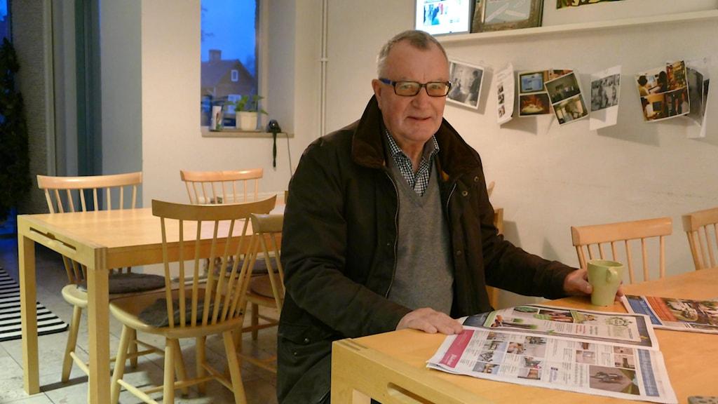 Claes Randlert har jobbat som mäklare i drygt 25 år. Foto: Hanna Sihlman/SR Gotland