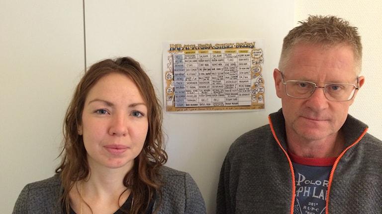 Louise Stuxgren och Lars Olofsson. Foto: Daniel Värjö/Sveriges Radio