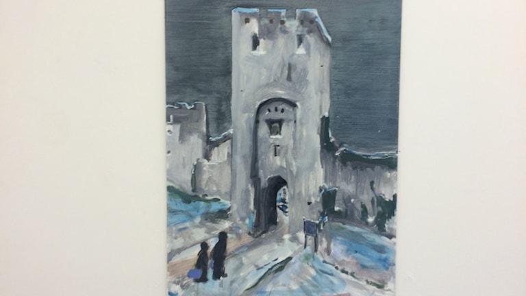 Målning av Norderport av Jakob Anckarsvärd