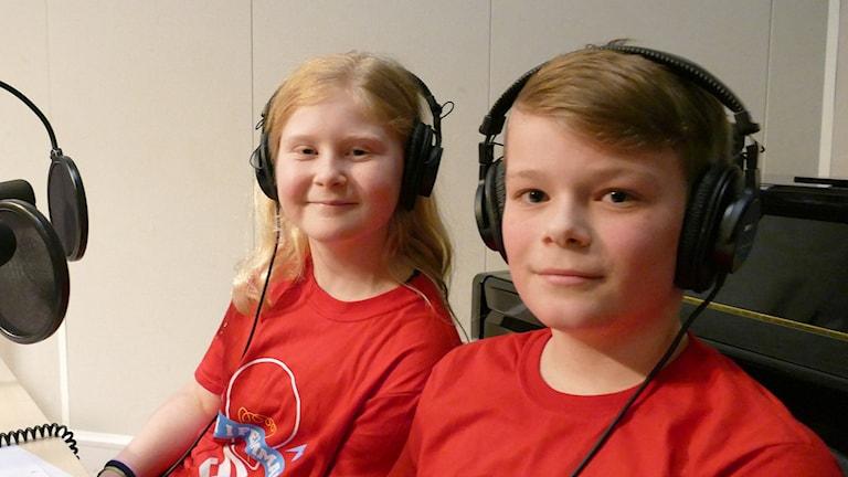Ida Eklund och Melvin Blomberg. Foto: Mika Koskelainen/Sveriges Radio