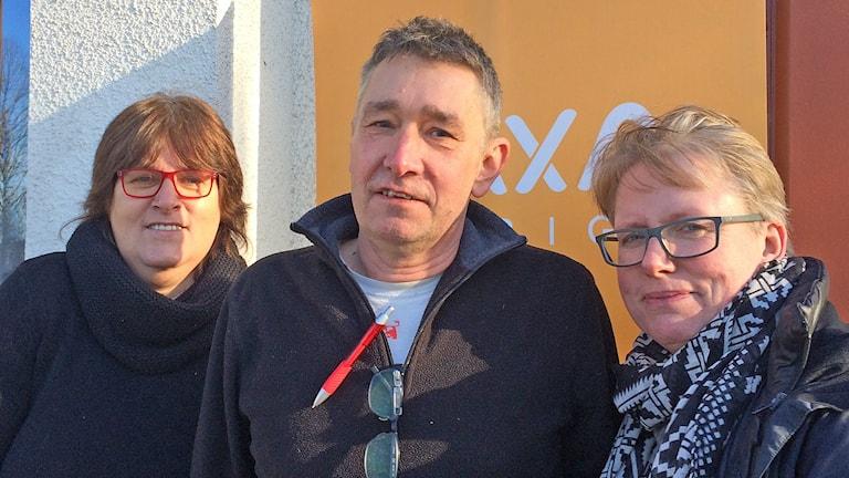 Gunvor Berglund, Sören Isberg och Helene Lindberg