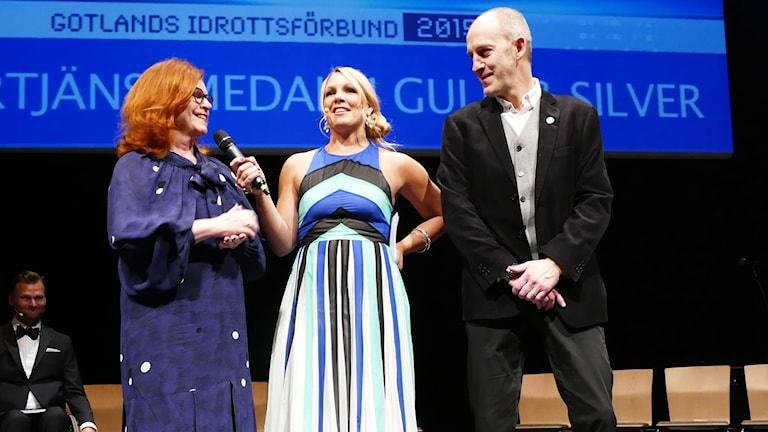 Cecilia Schelin Seidegård, Anna Brolin och Mats Ladebäck.