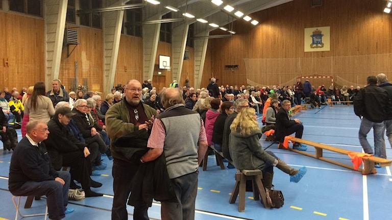 300 kom till mötet i Fårösund. Foto: Daniel Värjö/Sveriges Radio