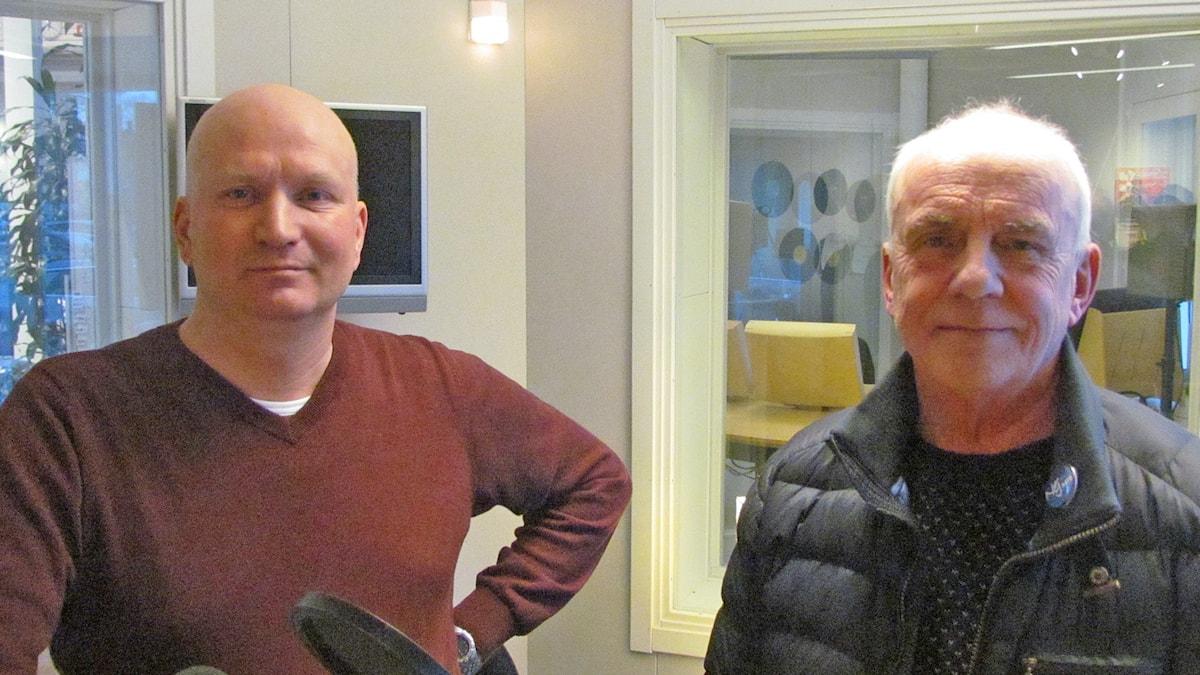 Joakim Martell och Sten Sandberg. Foto: Mika Koskelainen/Sveriges Radio