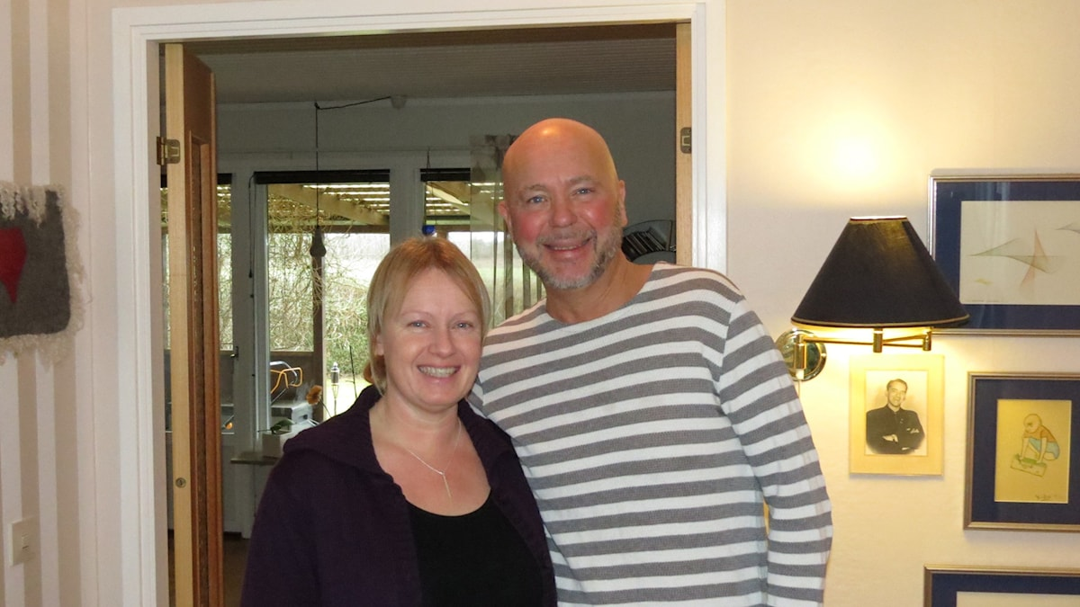 Jonas Ahlstrand och Helena Duse. Foto: Tomas Ardin/Sveriges Radio