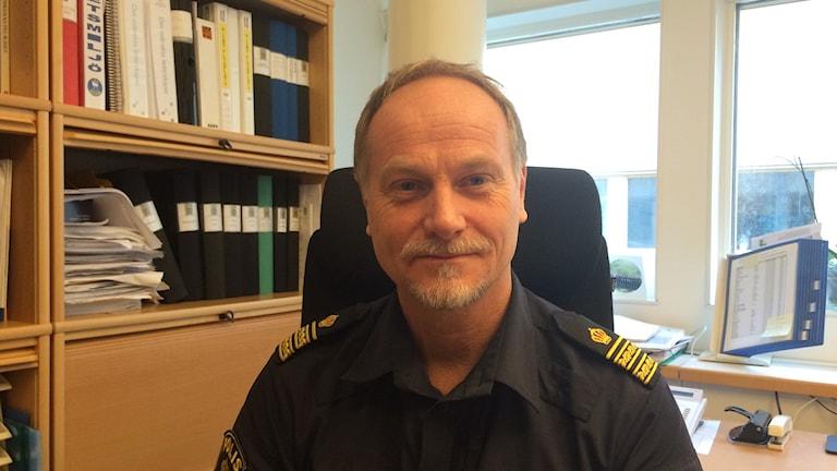 Roger Nyd, chef för lokalpolisområde Gotland. Foto: Daniel Värjö/Sveriges Radio