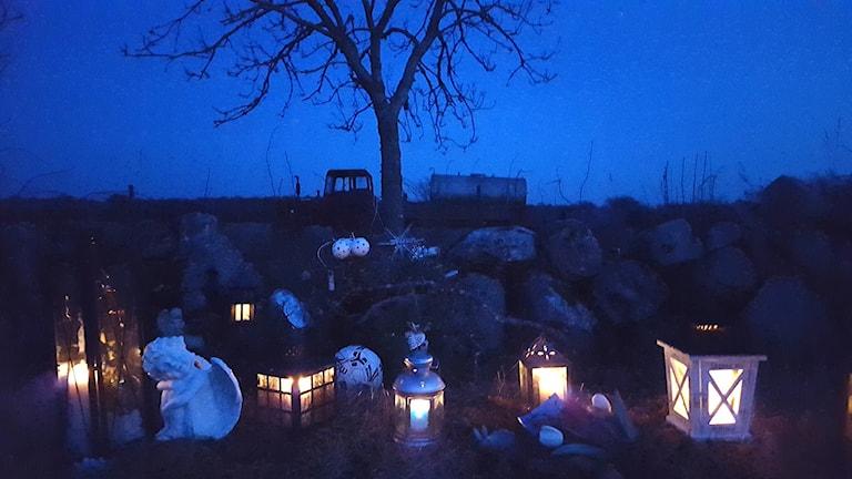 Albins minnesplats. Foto: Privat