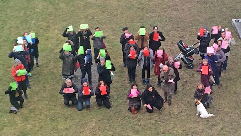 Manifestation för jämlika löner. Foto: Lasse Ahnell/Sveriges Radio