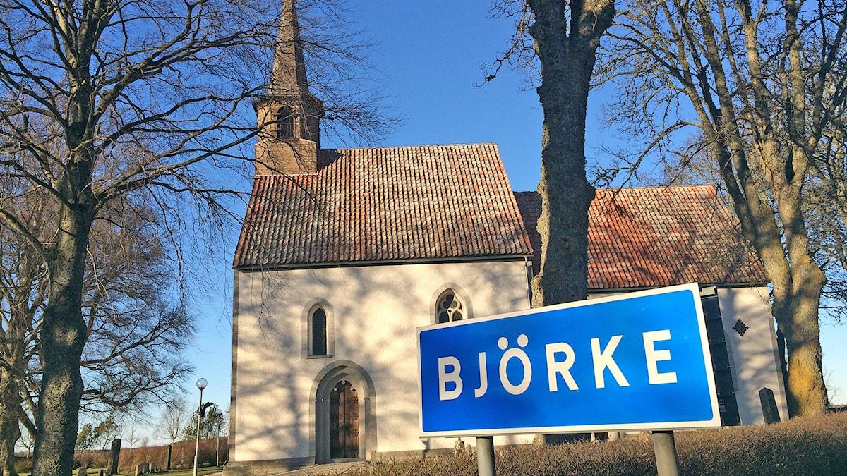 Björke kyrka. Foto: Hanna Sihlman/Sveriges Radio