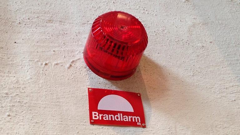 Brandlarm. Foto: Katarina Hedström/ Sveriges Radio