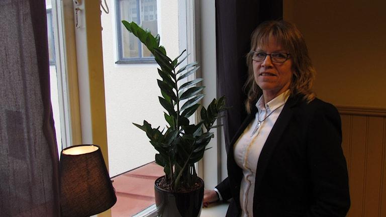 Lotta Holmberg, en av föreståndarna på Hassela Gotland. Foto: Katarina Hedström/Sveriges Radio