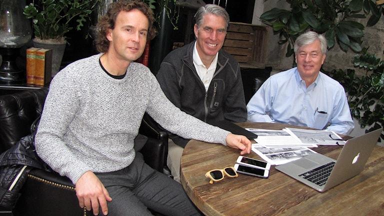 Alec Arho Havrén, Richard och Michael Brown.