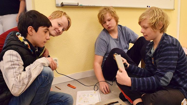 Elever på Öja skola. Foto:Jack Lantz/Sveriges Radio