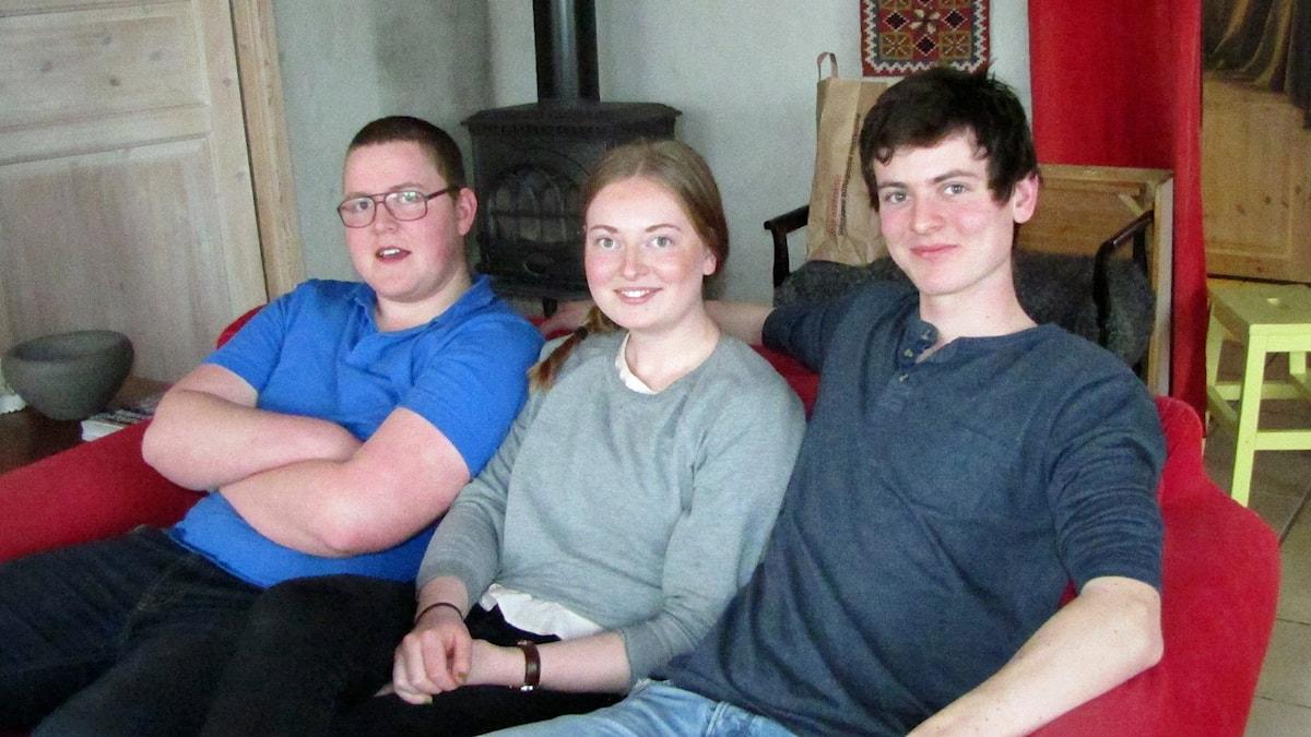 Viggo, Ellen och Aron Kloth