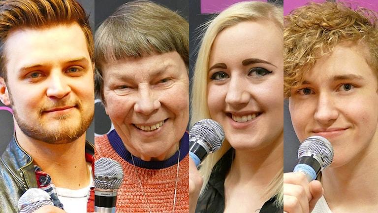 Oscar Svensson, Ann-Britt Lindqvist, Madde Karlsson och Gustav Mehler